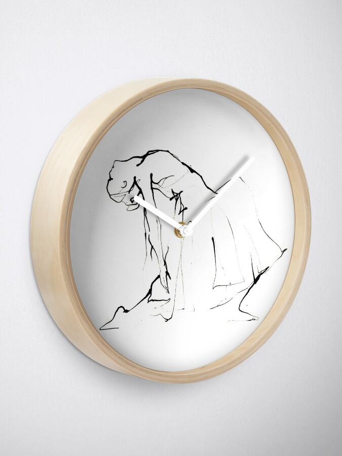 Alternate view of Ballet Dance Drawing  Clock