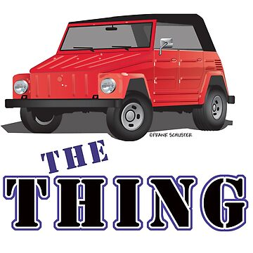 VW 181 Thing Kuebelwagen Trekker Acapulco Top Up Red Type by azoid