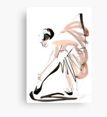 Expressive Watercolor Dance Drawing Canvas Print