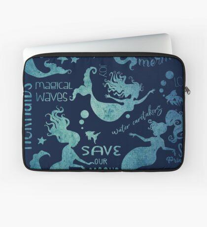 Dream Mermaids Pattern - weathered Laptop Sleeve