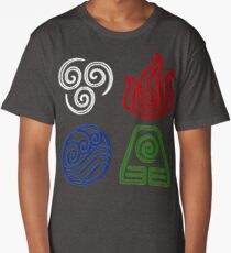 Four Elements Minimalist Long T-Shirt