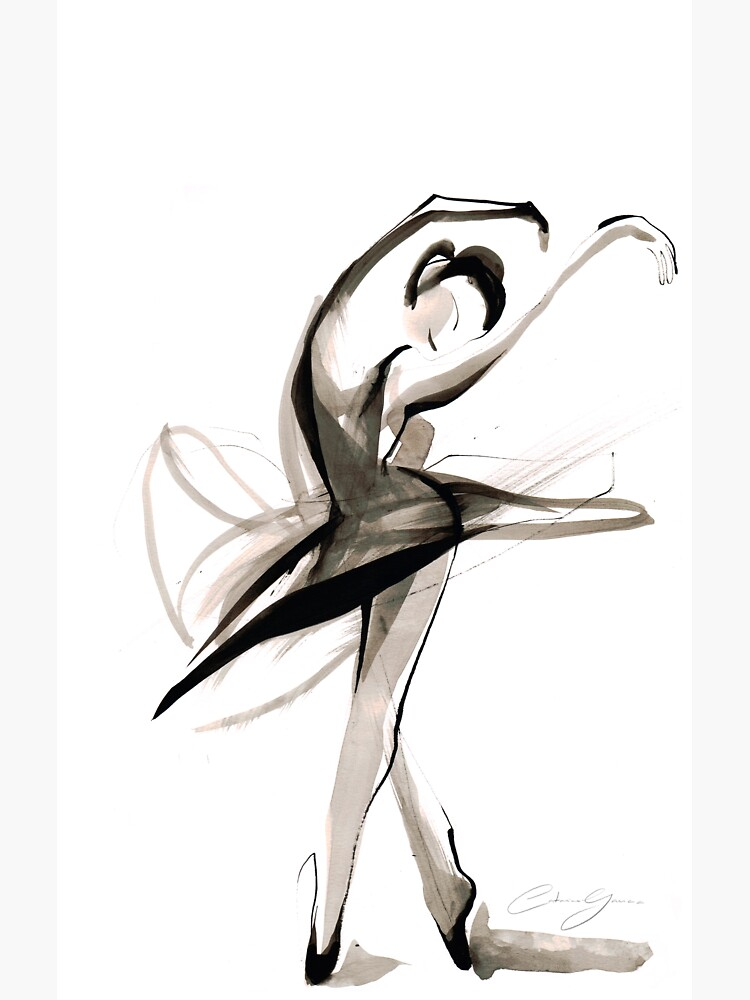 Expressive Watercolor Dance Drawing by CatarinaGarcia
