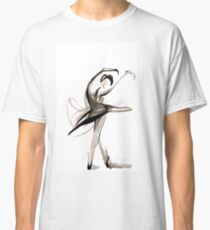 Expressive Watercolor Dance Drawing Classic T-Shirt