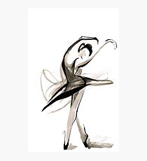 Expressive Watercolor Dance Drawing Photographic Print