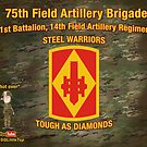 75th Artillery Tapestry by 1SG Little Top