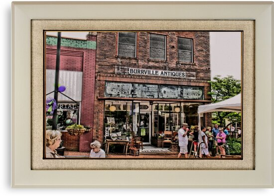 """""""Burrville Antiques"""" ... with a matted and framed presentation, for prints and products by © Bob Hall"""