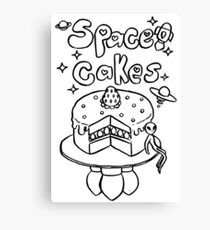 Space Cakes - Black Line Canvas Print