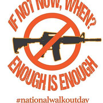 Gun Control, If not Now, When? Gun Reform Sweatshirt by JJDzignsShop