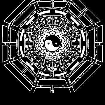 Mandala Yin Yang (black) by LeahMcNeir