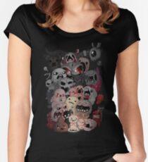 Camiseta entallada de cuello redondo Encuadernación del arte del ventilador de isaac