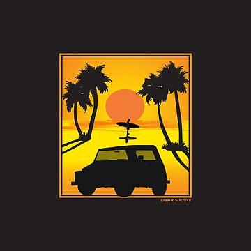 VW 181 Thing Kuebelwagen Trekker Acapulco Sunset by azoid