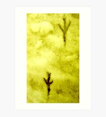yellow snow ... Art Print