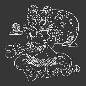 Alien Space Babe - White Line  by SaradaBoru
