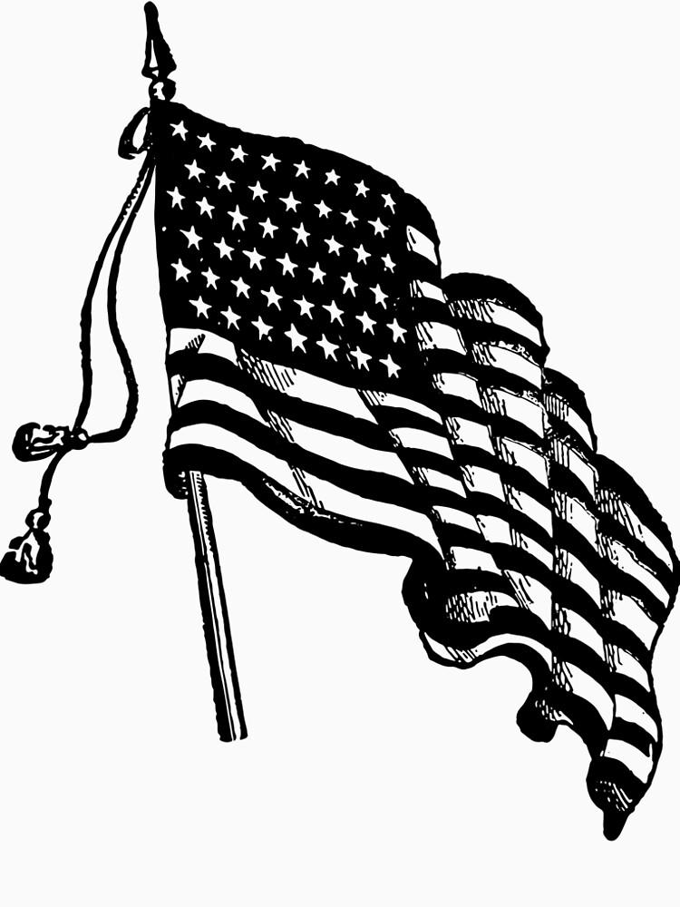 Vintage and Retro American Flag by Chocodole