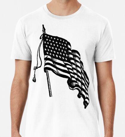 Vintage and Retro American Flag Premium T-Shirt