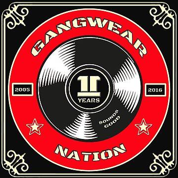 Gangwear Nation Anniversary - Record Design by lemmy666