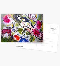 ROMEO and JULIET : Vintage 1964 Paris Painting Print Postcards
