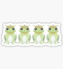 Quadruplet Princely Frogs Sticker