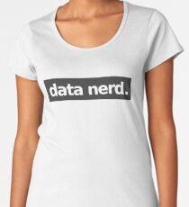 Data Nerd - Gray Women's Premium T-Shirt