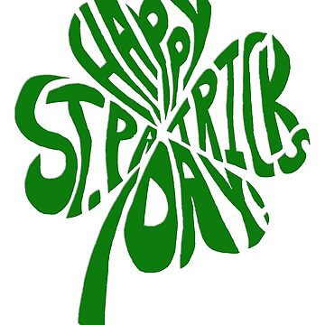 Happy St Patrick's Day Shamrock by bethcentral