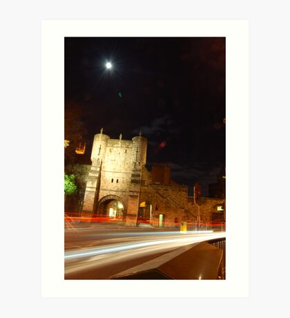 York: Night falls on a Beautiful Town Art Print