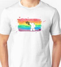 Bare Bum Bear - Schwuler Stolz Slim Fit T-Shirt