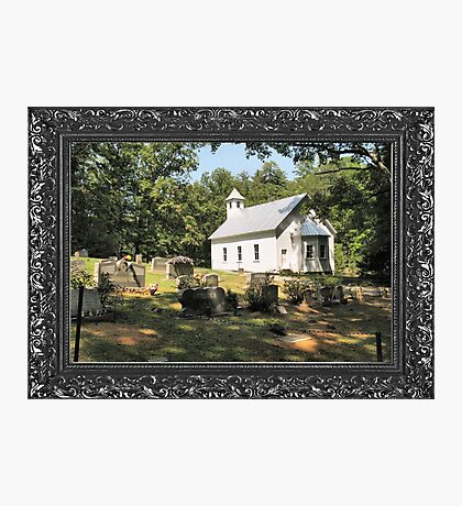 """""""Cades Cove Missionary Baptist Church"""" ... with a canvas and framed presentation, for prints and products Photographic Print"""