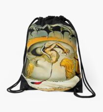 ENFANTE GEOPOLITIQUE OBSERVANTE : Salvador Dali Painting Print Drawstring Bag