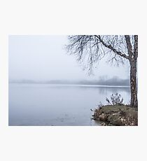Misty Wingra - lakes winter nature fog Photographic Print
