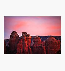 Sedona Sunrise - morning landscape pink Photographic Print