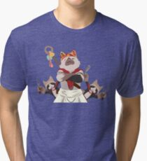 Meowscular Chef and his crew Tri-blend T-Shirt