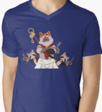 Meowscular Chef and his crew Men's V-Neck T-Shirt