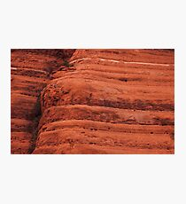 Sedona stripes - rocks geology landscape Photographic Print