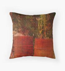 Rusty Barrels Throw Pillow