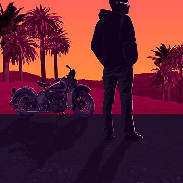 Retro Sunset Motorcycle by Lord-Mothman