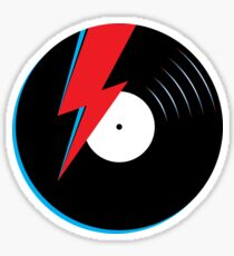 Ziggy Stardust Record Sticker