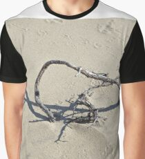 Sandy district with barkhans and poor vegetation Graphic T-Shirt