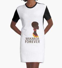 Wakanda Forever  Graphic T-Shirt Dress