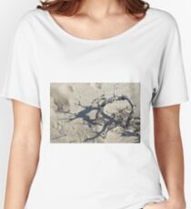 Sandy district with barkhans and poor vegetation Women's Relaxed Fit T-Shirt