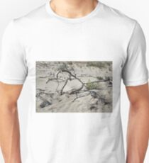 Sandy district with barkhans and poor vegetation Unisex T-Shirt