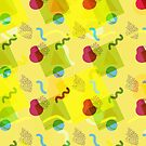 Neo Memphis Fun Pattern Yellow by SquibbleDesign