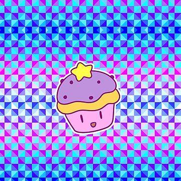 Star Cupcake - Holographic Checkered Pattern by SaradaBoru