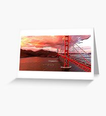 The Golden Gate Textured Art Greeting Card