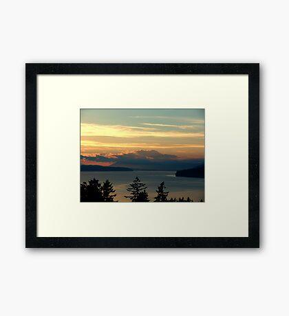 Cloake Hill Sunset Framed Print