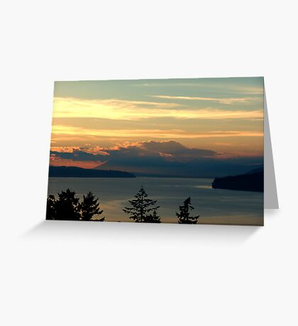 Cloake Hill Sunset Greeting Card