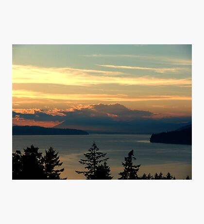 Cloake Hill Sunset Photographic Print