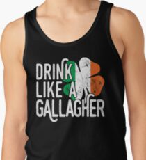 Drink Like A Gallagher T Shirt Funny Irish Ireland Tee Gifts Men's Tank Top