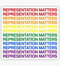 Representation Matters (Black) Sticker