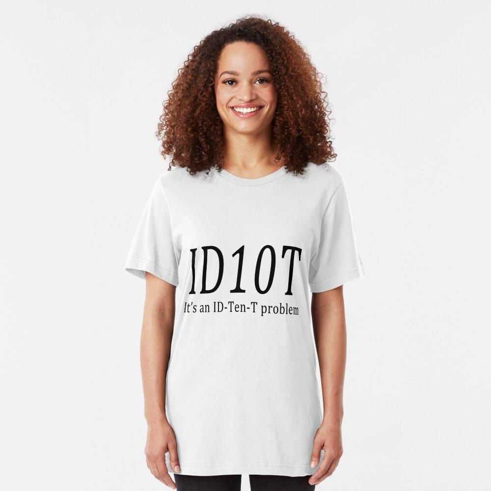 ID10T - light tees Slim Fit T-Shirt