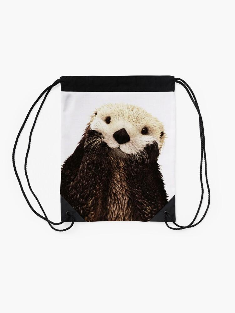 Alternate view of Otters Gonna Ott Drawstring Bag